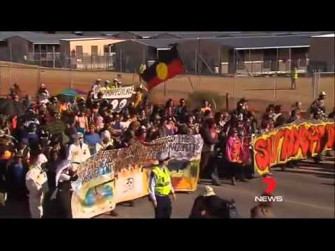 7News - Olympic Dam protest heats up