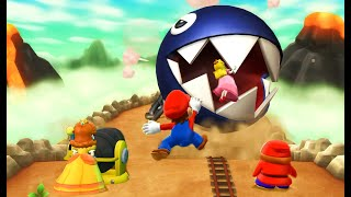 Mario Party 9 Boss Rush - Daisy vs Mario vs Peach vs Shy guy| CartoonsMee