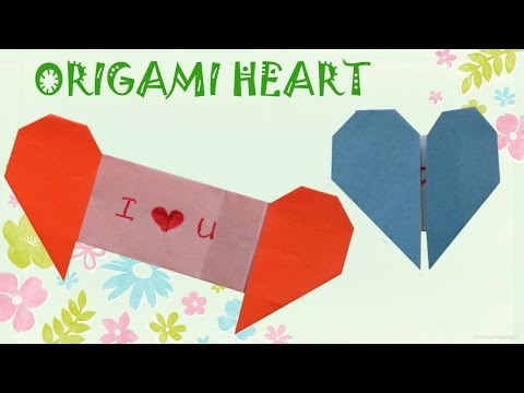 Origami Heart with Message - Origami Easy