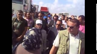 وزيرة القوى العاملة تقدم 11كارفان لدعم العاملين بقناة السويس الجديدة