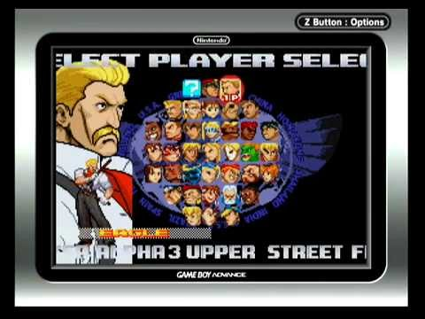 Gba Street Fighter Alpha 3 Upper Character Select Screen Youtube