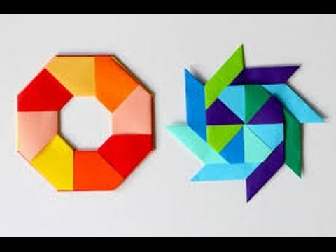 How To Make A Paper Transforming Ninja Star Origami Tutorial Youtube