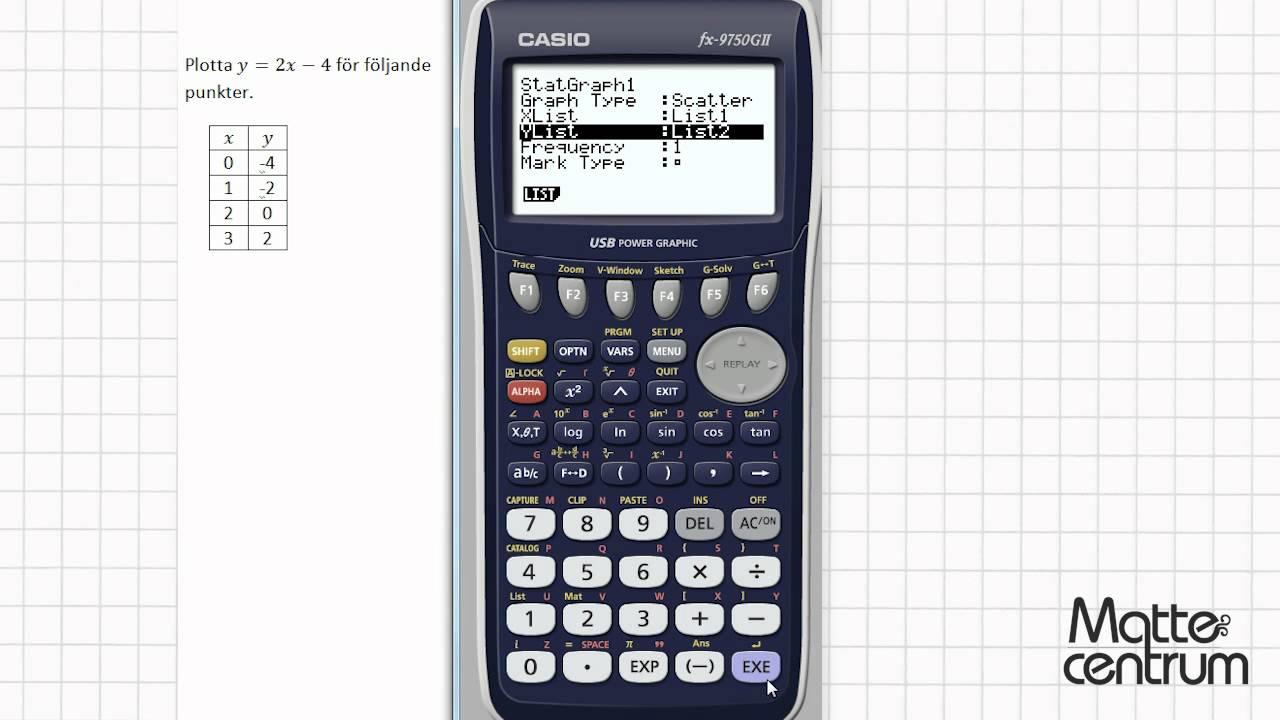 Linjära funktioner - Grafräknare II - Matematik 1