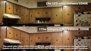 darrenreviews 8 ikea ledare gu10 led 3 8watt 110v light bulbs compared to halogen