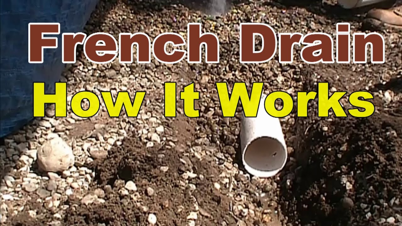 How A French Drain Works Youtube