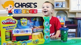 Chase's Corner: Playdoh Meal Makin' Kitchen Review & Unboxing Fun w/ Dad(Chase loves Playdoh! He watches Playdoh videos all the time on Youtube and we wanted to give him one of his own to watch! We hope you enjoy too of course!, 2015-01-21T15:04:36.000Z)