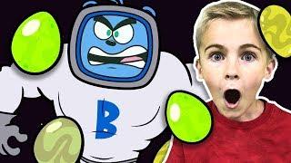 Hobby Kids vs Giant Surprise Eggs from Space | HobbyKids Adventures Cartoon Episode 4