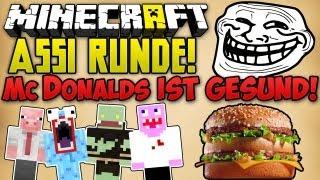 McDONALDS IST GESUND! LACHFLASH + DUMMES KIND! - Minecraft ASSI RUNDE ft. Eiterbeule | ungespielt