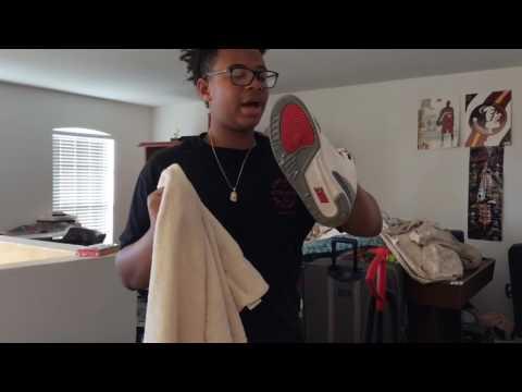 "Air Jordan Retro 3 ""True Blue"" Cleaning Method/ Tutorial‼"
