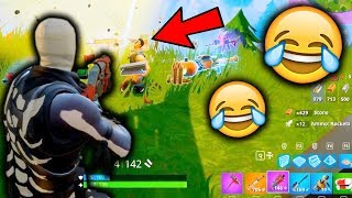 THE RISKIEST PLAY EVER!! (Fortnite Battle Royale Launchpad Update)