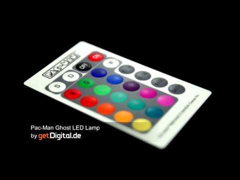 Large Pac-Man Ghost LED Lamp Www.getdigital.eu