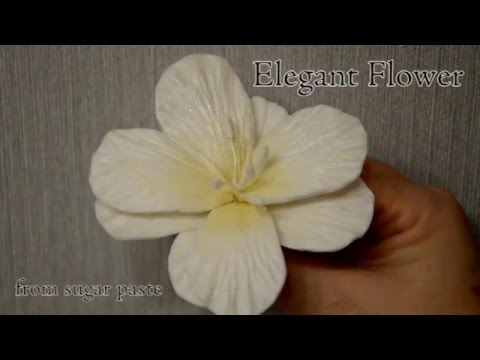 Elegant Flower - Wedding Cake Decoration step by step