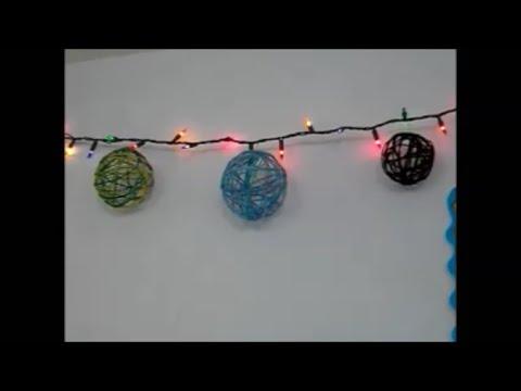 Esferas de navidad con estambre youtube - Esferas de navidad ...