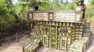 Потрясающие! Построить бассейн и дом Вилла с использованием дерева