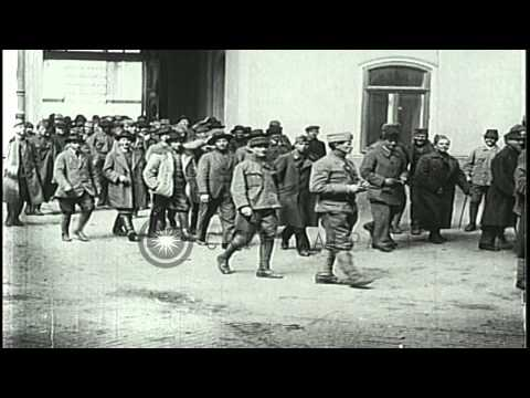 The red army's recruitment efforts in the Hungarian Soviet Republic following Wor...HD Stock Footage