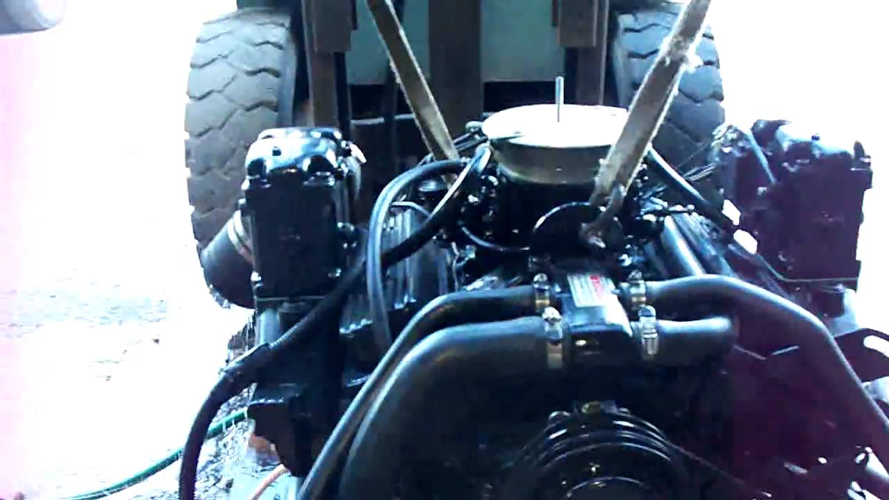Mercruiser 43 V6 4 Barrel  YouTube