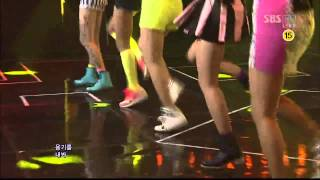Wonder Girls ft JJ Project - Like This 120617 SBS Inkigayo HD