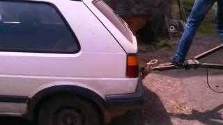 Golf II i przyczepa od ciągnika