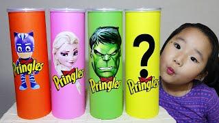 프링글스 먹으면 슈퍼히어로 댄스 춤 춘다고? Making Pringles with Superheros dance 리틀조이 LittleJoy