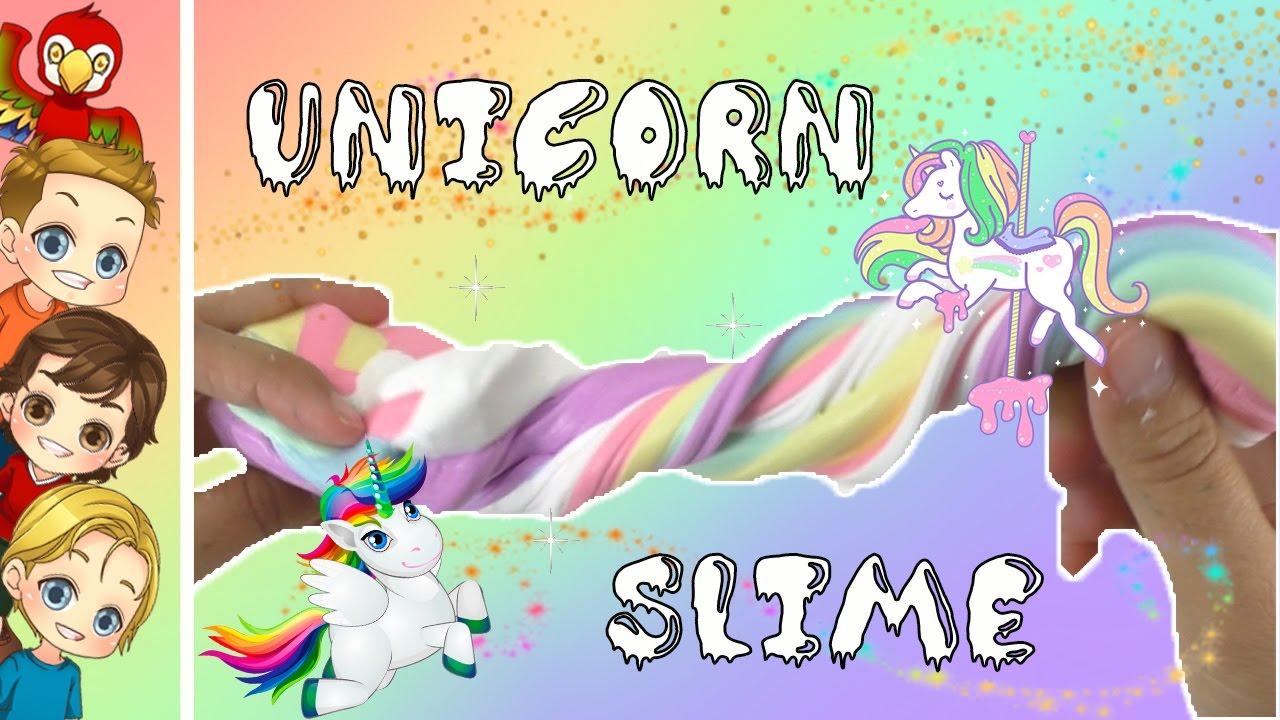 Diy Fluffy Slime  Unicorn Slime  How To Make Unicorn Fluffy Slime  New  Diy 2017  Easy Slime ̞�난감