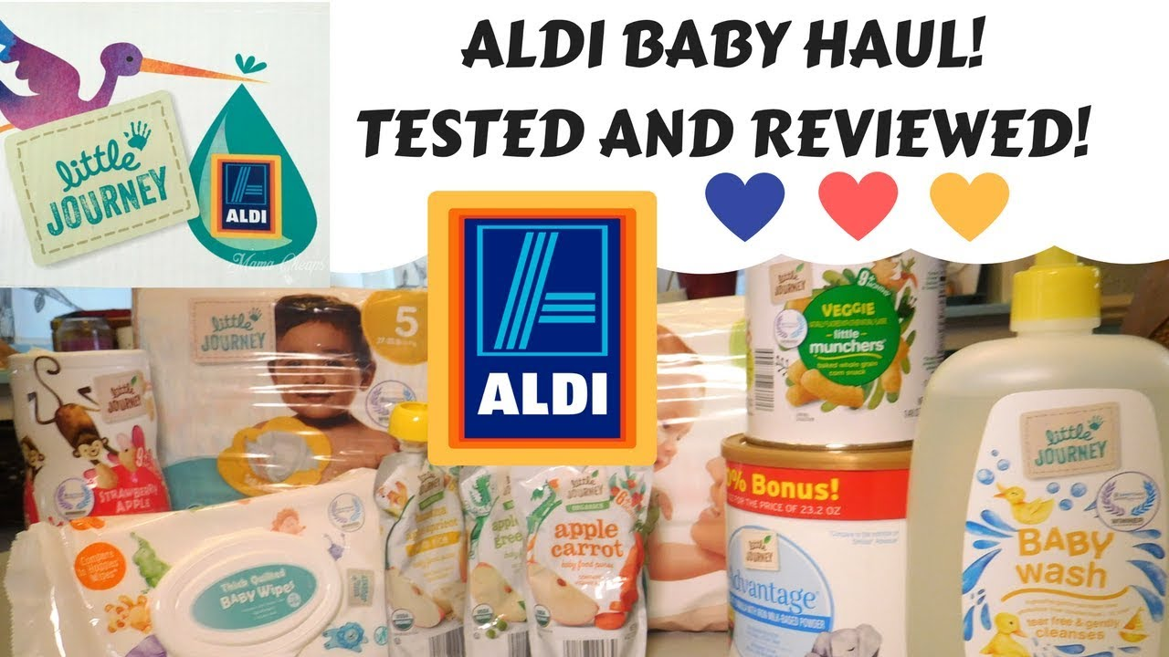 ALDI BABY HAUL REVIEW / LITTLE JOURNEY/ DIAPERS FORMULA AND MORE!