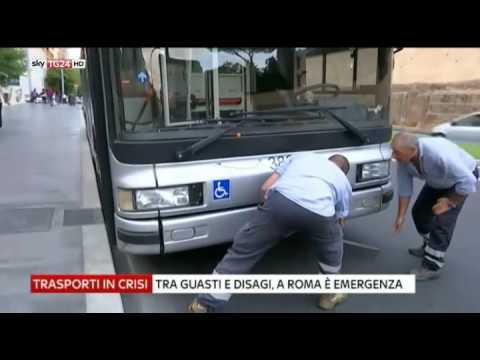 Atac Roma  taglia oltre 2mila corse. Federico Sisimbro Sky Tg24.