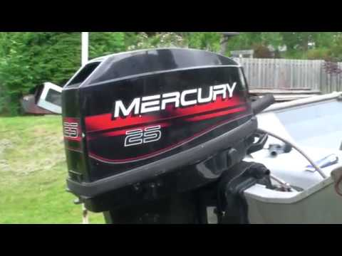 2 stroke mercury 25hp installing a new outboard water pump, impeller and coldstart