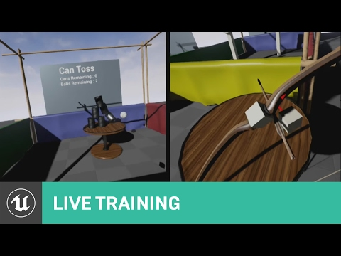 Blueprint Creating Interactions in VR with Motion Controllers | 01 | Live Training | Unreal Engine