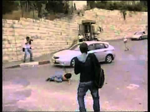 צפו: צוות חדשות 2 מותקף באבנים Palestinians throw rocks At News Crew