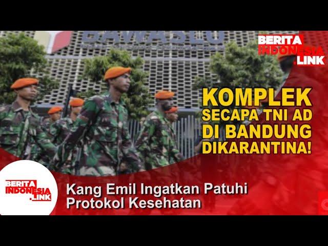 Komplek Secapa Tni Ad Di Bandung Dilokalisir