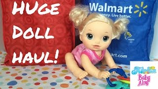 Huge Doll Haul from Target & Walmart with Baby Alive Go Bye-Bye Doll!
