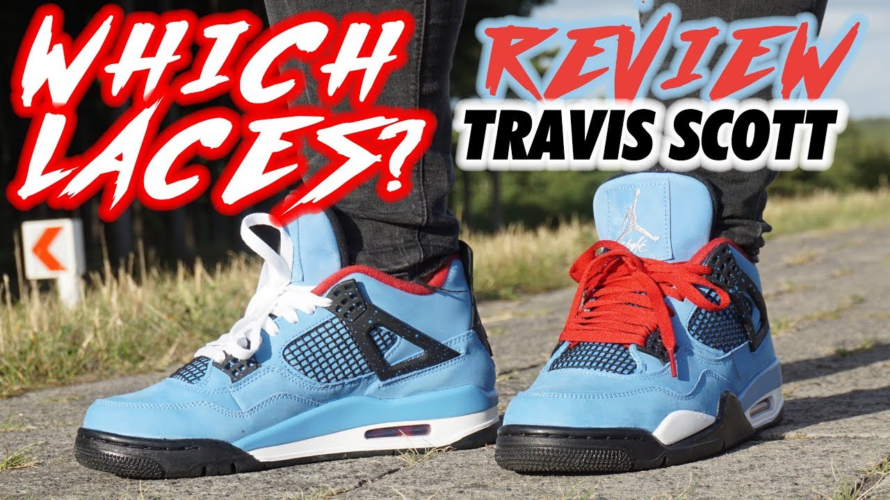 online retailer 99ecb c730c NIKE AIR JORDAN 4 TRAVIS SCOTT unboxing REVIEW plus ON FEET LACE SWAP