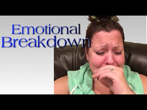 emotional breakdown Nervous breakdown n a collapse in mental health, such as the onset of a severe mood disorder, that precludes normal functioning and may require hospitalization not in.