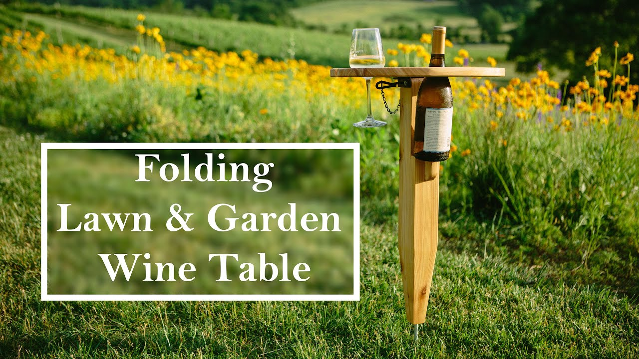 Building a folding Wine Table - YouTube