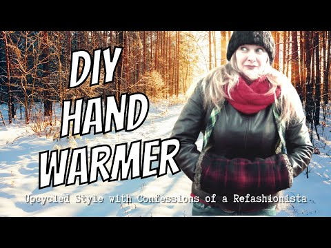 The Diy Hand Warmer A Cozy Hand Muff Tutorial Youtube