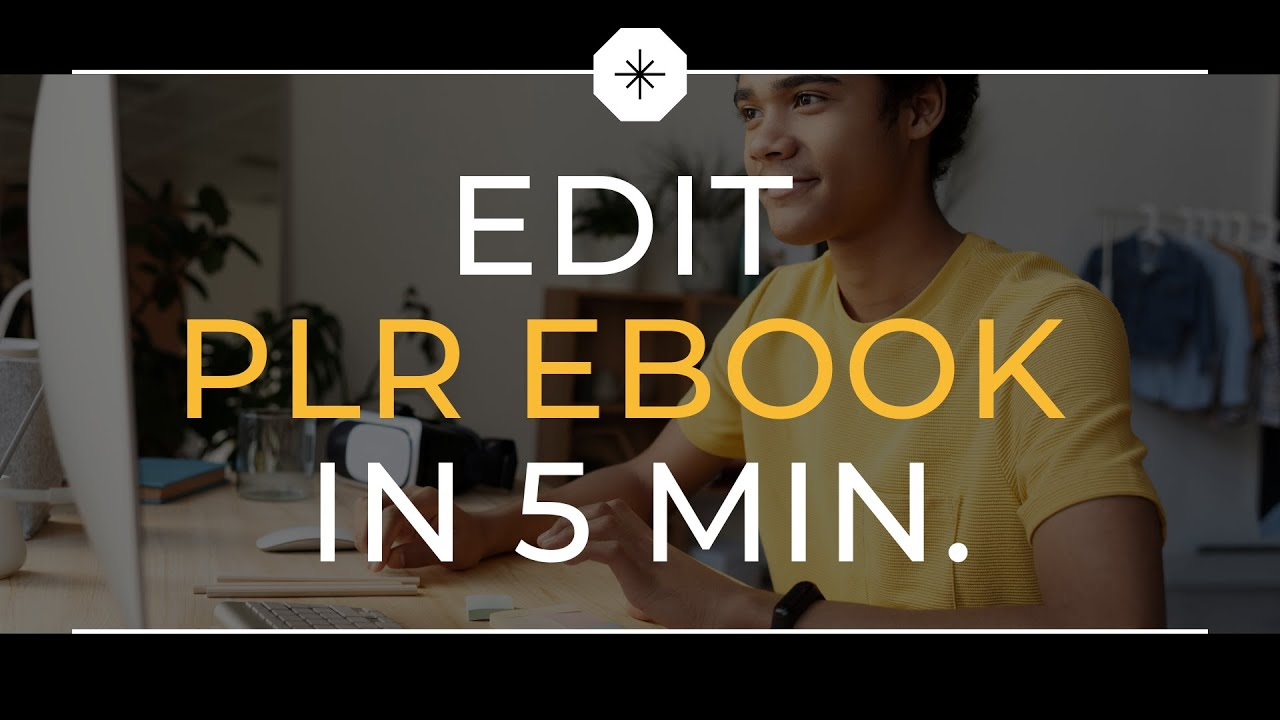How to EDIT or rebrand MRR & PLR eBooks with Resell Rights in less than 5 MIN. (FREE PDF EDITOR)