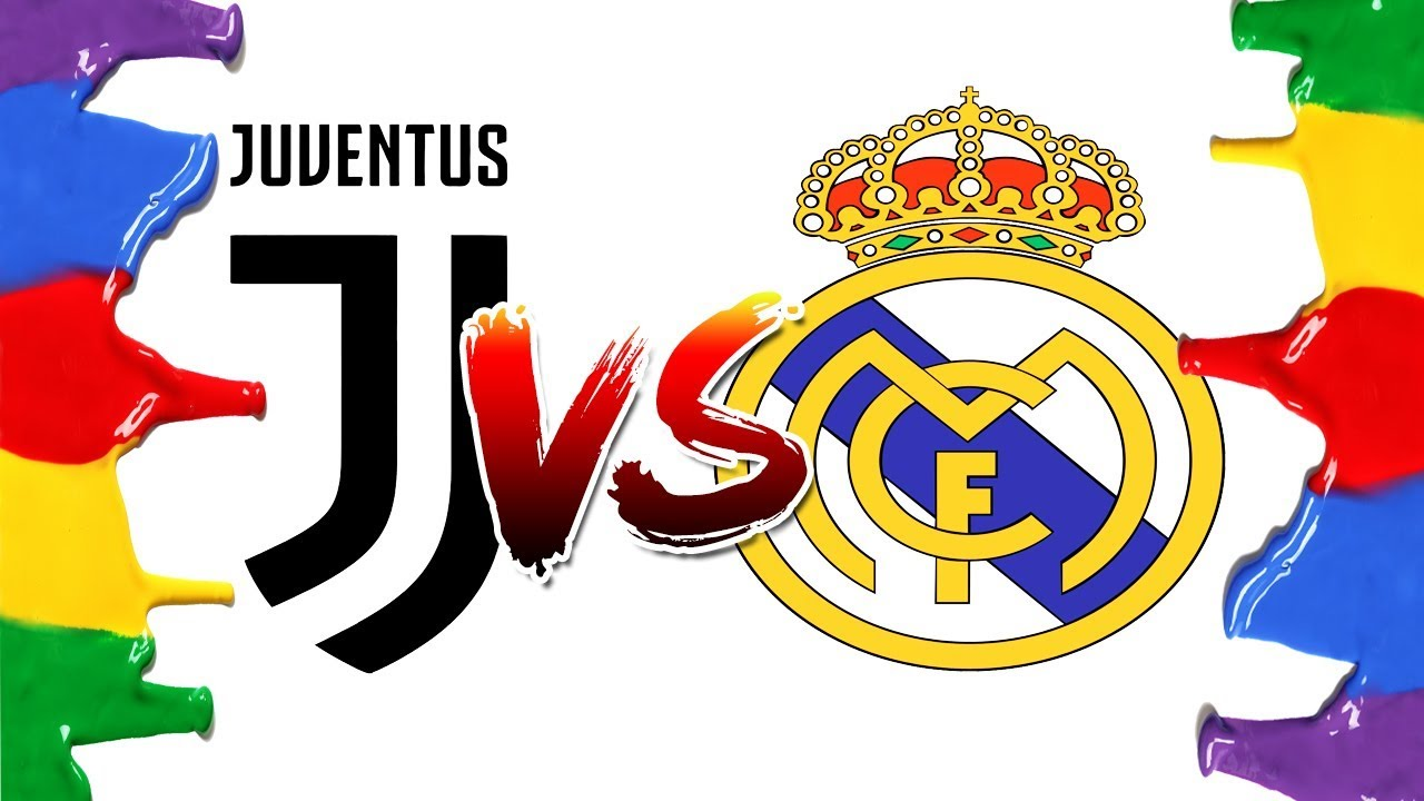 How To Draw And Color Juventus Vs Real Madrid Champions League Logos Coloring Pages Youtube