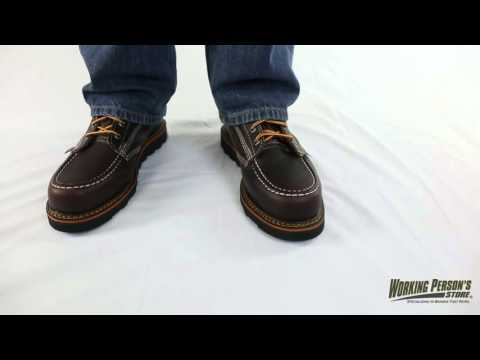 Thorogood Boots: Men's Brown 814-4266 Moc Toe USA-Made Wedge Boots