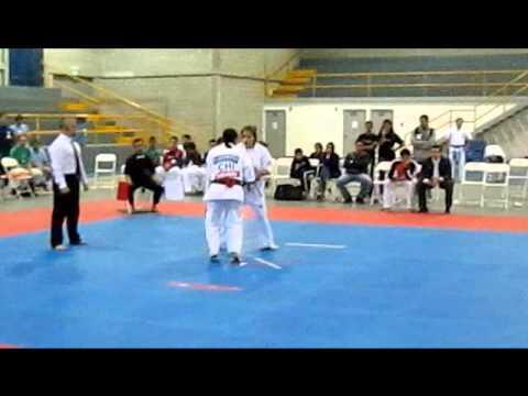 4th All America Kyokushin Costa Rica 2013 - Catalina Rivera Vs Fabiola Vásquez