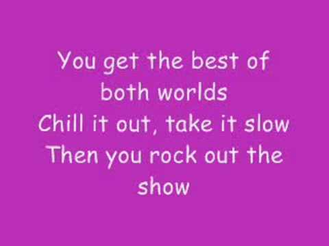 Hannah Montana - Best Of Both Worlds With Lyrics