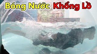 Lâm Vlog - Thử Làm Bong Bóng Nước Khổng Lồ và Cái Kết | Swimming in GIANT WATER BALLOON