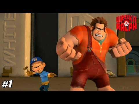 Wreck-It Ralph - Wii Playthrough Gamaplay 1080p (DOLPHIN) PART 1
