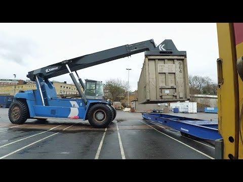 Погрузка контейнера на платформу  #22