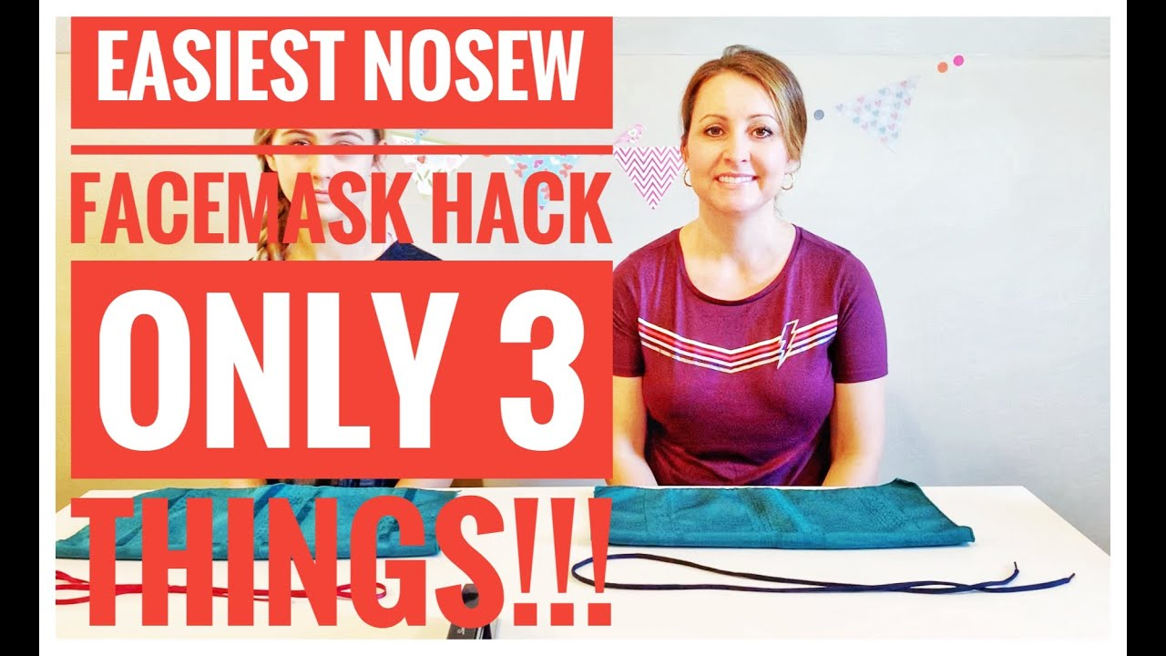 DIY NoSew FaceMask in 3 Minutes Using 3 Things in Your Home