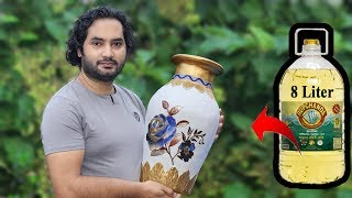 Big size Stylish flower Vase || Plastic Bottle Flower Vase || Home decor ideas