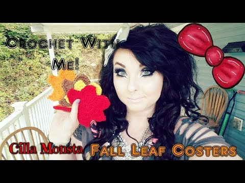 Crochet With Me!: Fall Leaf Coasters