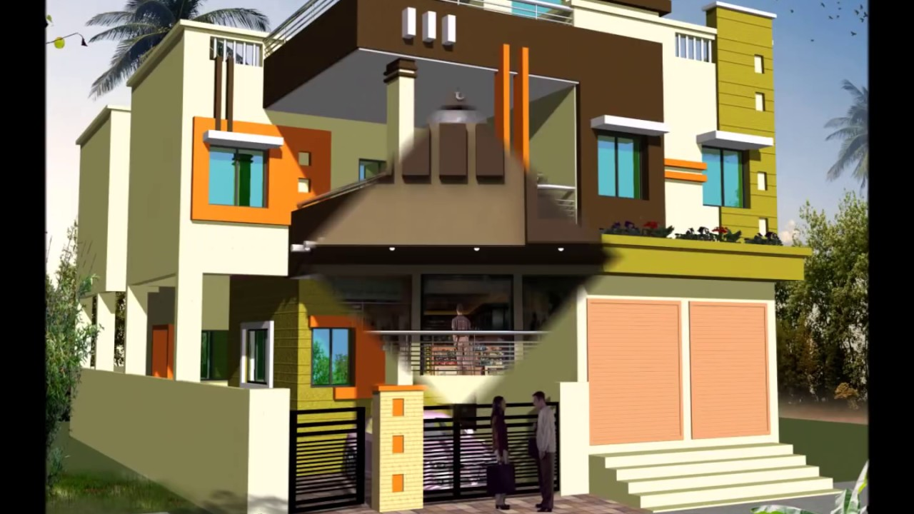 Shop Attached House Front Elevations Youtube