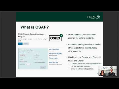 Financing Your Education, OSAP, And Financial Aid: The Trent Advantage Webinar