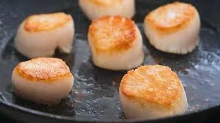 Жаренные морские гребешки