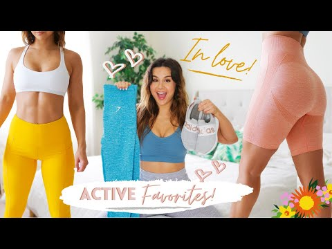 ESSENTIAL FITNESS FAVORITES SPRING 2020 MUST HAVES AMAZON GYMSHARK ADIDAS & MORE! REVIEW HAUL TRY ON